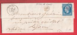 N°14 PC 1274 FEURS LOIRE OR ST CYR LES VIGNES POUR LYON RHONE 1860 - 1849-1876: Klassik