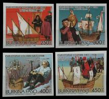 Burkina Faso 1986 - Mi-Nr. 1087-1090 B ** - MNH - Ungez / Imp - Schiffe / Ships - Burkina Faso (1984-...)