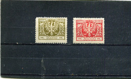 Pologne 1924 Yt 278-279 * - Nuovi