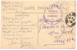 Cachet Circulaire Hôpital Bénévole 83 Bis Ilbarritz Bidart (département 64) - WW I