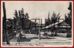 MOCAMBIQUE - CHINDE - RUA PRINCIPAL - 1930 PC - Mozambico