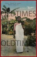 MOCAMBIQUE - CHINDE - RAPARIGA NATIVA EM PASSEIO - 1930 PC - Mozambico