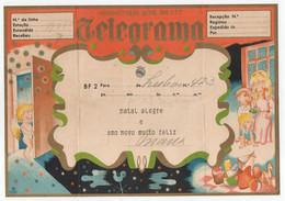 CTT  Portugal Telegrama De Boas Festas BF2 Christmas Greetings Telegram - Covers & Documents