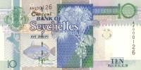 SEYCHELLES P. 36a 10 R 1998 UNC - Seychelles