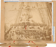 Foto 1879 REGIA MARINA - Nave Da Guerra Regia Fregata Vittorio Emanuele - Equipaggio Sul Ponte Di Coperta - War, Military