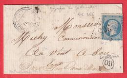 N°20 GC 365 BAZOCHES LES GALLERANDES LOIRET CAD TYPE 22 OR LIVERNON POUR PONT AUX MOINES - 1849-1876: Klassik