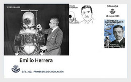 Spain 2021 Espagne Emilio HERRERA Military Engineer Nautical Stratum Diving 1v FDC - FDC