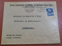 Lettre, Oblitéré Genève 1931 Envoyé à Luxembourg - Covers & Documents