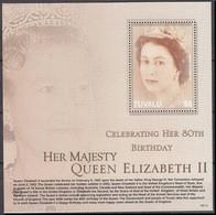 2006Tuvalu1271/B13280th Anniversary Of Queen Elizabeth II - Tuvalu