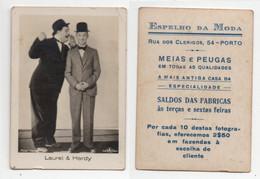 Laurel And Hardy Advertising Vintage Real Photo * Espelho Da Moda * Portugal - Publicités