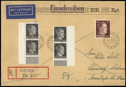 Germany 1943 Aleksandrija Kret Schoden Ostland Registereed Airmail Cover 84771 - Zonder Classificatie