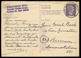 Germany Dresden March 1945 Ukraine Forced Labor Camp Fremdenheim Hoefer 89574 - Unclassified