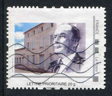 """TIMBRE PERSONNALISE Oblitéré """"type MonTimbraMoi - LETTRE PRIORITAIRE 20 G - F. MITTERRAND"""" - Personalized Stamps (MonTimbraMoi)"""
