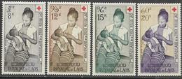 Laos  1958  Sc#C31-34   Red Cross Set Of 4  Airmails  MLH  2016 Scott Value $7.75 - Laos