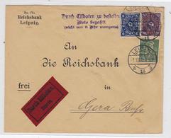 """Deutsches Reich Express Brief Mit MIF """"Bote Bezahlt"""" Von Der Reichsbank Portogerecht AKs - Briefe U. Dokumente"""