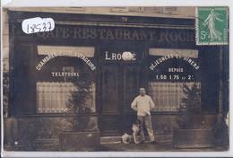 CARTE-PHOTO- CAFE-RESTAURANT L. ROCHE - A Identifier