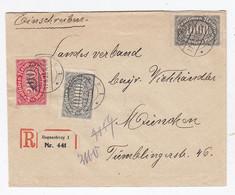 Deutsches Reich R-Brief Vom Bayr.Viehhändlerverband Portorichtig AKs Rückseitig Zusätzlich Intressante Frankatur - Briefe U. Dokumente