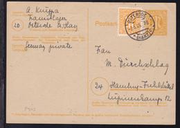 AM-POST 6 Pfg. Mit Zusatzfrankatur Ab Osterode (Harz) 2.5.46 Nach Hamburg- - American/British Zone