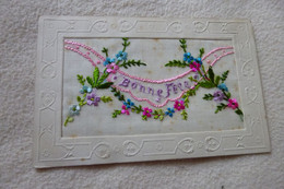 BELLE CARTE BRODEE ...BONNE FETE - Embroidered