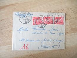 1950  Lettre Pneumatique Fresnes  3 Timbre Marianne Gandon 15 F - 1921-1960: Modern Period