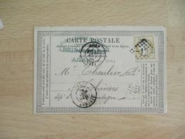 Agen Gros Chiffre 12 Obliteration Sur Carte Postale Precurseur - 1849-1876: Classic Period