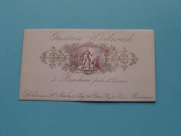 Gustave WERBROUCK ( Vins ) à Berchem Près D' ANVERS ( Carte Porcelaine / Porzellan / Porselein ) See SCAN ! - Visiting Cards