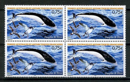 TAAF 2004 N° 385 ** Bloc De 4 Neuf MNH Superbe C 12 € + Oiseaux Birds Poissons Dauphin Fishes Faune Fauna Animaux - Nuevos