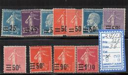 FRANCE  LUXE ** N° 217/28 - Unused Stamps