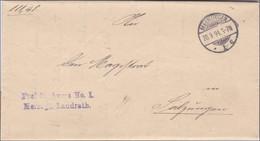 Landrat Meiningen Nach Salzungen 1894 - Zonder Classificatie
