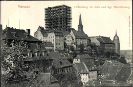 CPA Meißen In Sachsen, Albrechtsburg, Schlossberg Mit Dom, Baugerüst - Autres