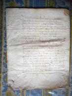 PARCHEMIN 4 PAGES Daté 1613 NORMANDIE A ETUDIER - Manuscripts