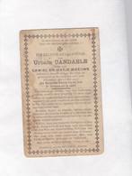 ,, SOLDAAT Sergeant 3e Jagers Te Voet U.CANDAELE °STAVELE - ALVERINGEM 1896 Gesneuveld DIKSMUIDE 1915 (M.MEEUWS) - Devotion Images