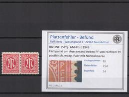 BIZONE 1945 PLATTENFEHLER Nr 8z F54 Postfrisch (409749) - American/British Zone
