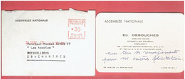 LUCE 1967 CARTE AUTOGRAPHE DE DESOUCHES MAIRE DE LUCE DE L ASSEMBLEE NATIONALE A GINESTET A POISVILLIERS - Autres Communes