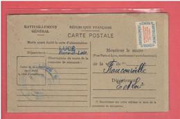 LUCE 1946 CARTE DE RAVITAILLEMENT DE JOSE BIGOT NE A FRANCOURVILLE FICHE DE CONTROLE RATIONNEMENT - Autres Communes