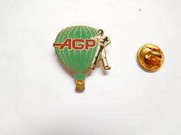 Beau Pin's Pins En EGF , Montgolfière AGP - Mongolfiere