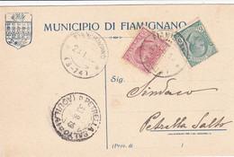 Fiamignano Aquila) Frazionario 3-74 Del 1919 - Marcofilía
