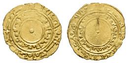 Al-Muizz-li-dinillah, 341-365 AH = 953-975, AV ¼ Dinar, 345 AH = 956, Siqilliya (Palermo), 1,04 G, Nicol 296, Typ D1, Ss - Other - Africa