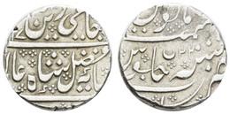 Im Namen Schah Alam II., 1173-1221 AH = 1759-1806, AR Rupie, 1197 AH = 1783, Arcot, 11,28 G, K.M. 15, Ss - India