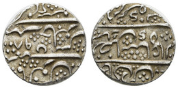 Im Namen Schah Alam II., 1173-1221 AH = 1759-1806, AR Rupie, 1198 AH = 1784, Arcot, 11,36 G, K.M. 15, Vz - India