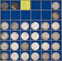 Allgemein, 5 Francs, 1811-1875, 26 Münzen, Alle Typen Doppelt, Dazu 2 Zeitgenössische Fälschungen Aus Aus Zinn, Bzw. Cu  - Unclassified