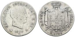 Königreich, Napoléon I., 1804-1815, 5 Lire, 1809 M, KM 10.4, S- - Unclassified