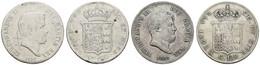 Allgemein, 120 Granos, 1850, 1857, 2 Stück, KM 153 B, 153 C, G.e., S+ - Unclassified