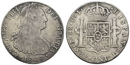 Ferdinand VII., 1808-1825, 8 Reales, 1808 PJ, Ss - Bolivia