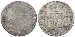 Ferdinand VII., 1808-1825, 8 Reales, 1808 PJ, KM 73, S - Bolivia