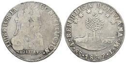 Republik, 8 Soles, 1837, KM 97, S - Bolivia
