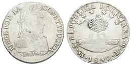 Republik, 8 Soles, 1840, KM 97, Ss+ - Bolivia