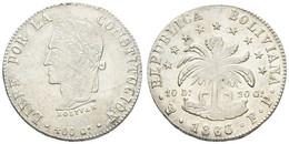 Republik, 8 Soles, 1863, KM 138.6, Vz - Bolivia
