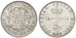1 Dollar, 1822, Anchor Money, KM 1,2,3, Ss + - Colonies