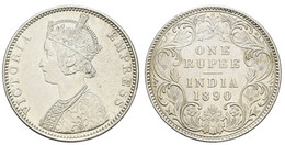 1 Rupie, 1835-1882, 1835 (st), 1835 (vz), 1840 (4 St., Vz-st), 1875 (vz+), 1862 (vz+), 1890 (vz+), 1882 (vz+), Jeder Typ - Colonies